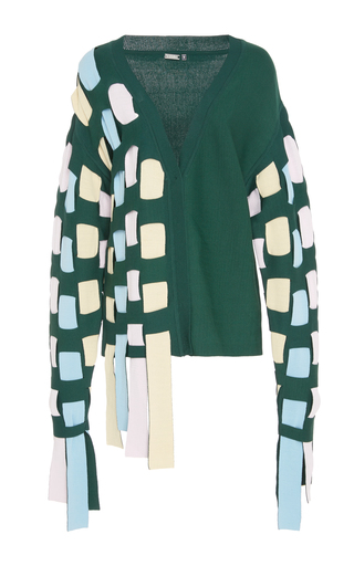 Medium ph5 green green cardigan with loose stripes