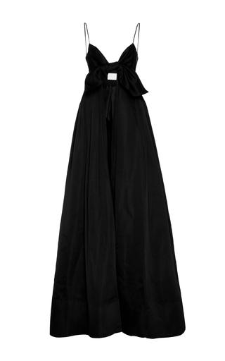 Medium leal daccarett black alika full length satin dress