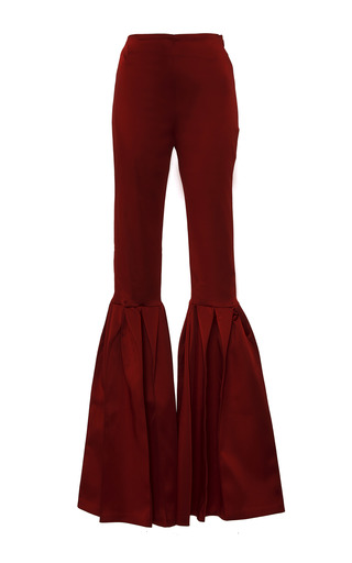 Medium leal daccarett red tabaco flared pant