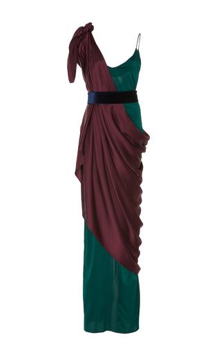 Medium leal daccarett green vervena sleeveless gown