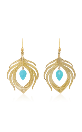 Medium annette ferdinandsen blue 18k gold turquoise earrings 2