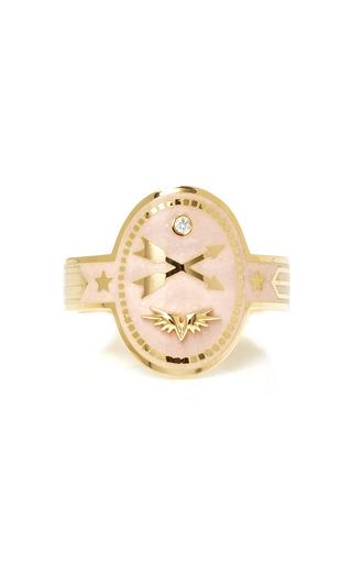 Medium foundrae pink crossed arrows cigar band in blush