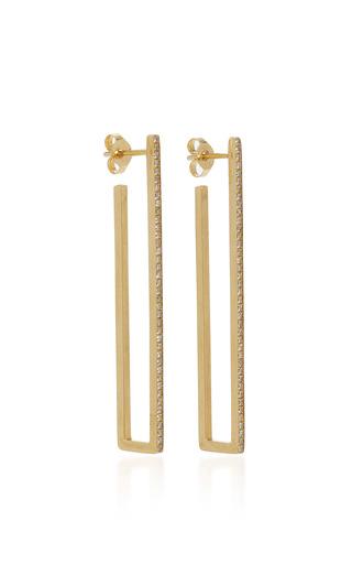 Medium jennifer meyer gold large rectangle hoops