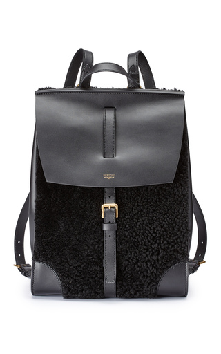 Medium bertoni black shearling julia backpack