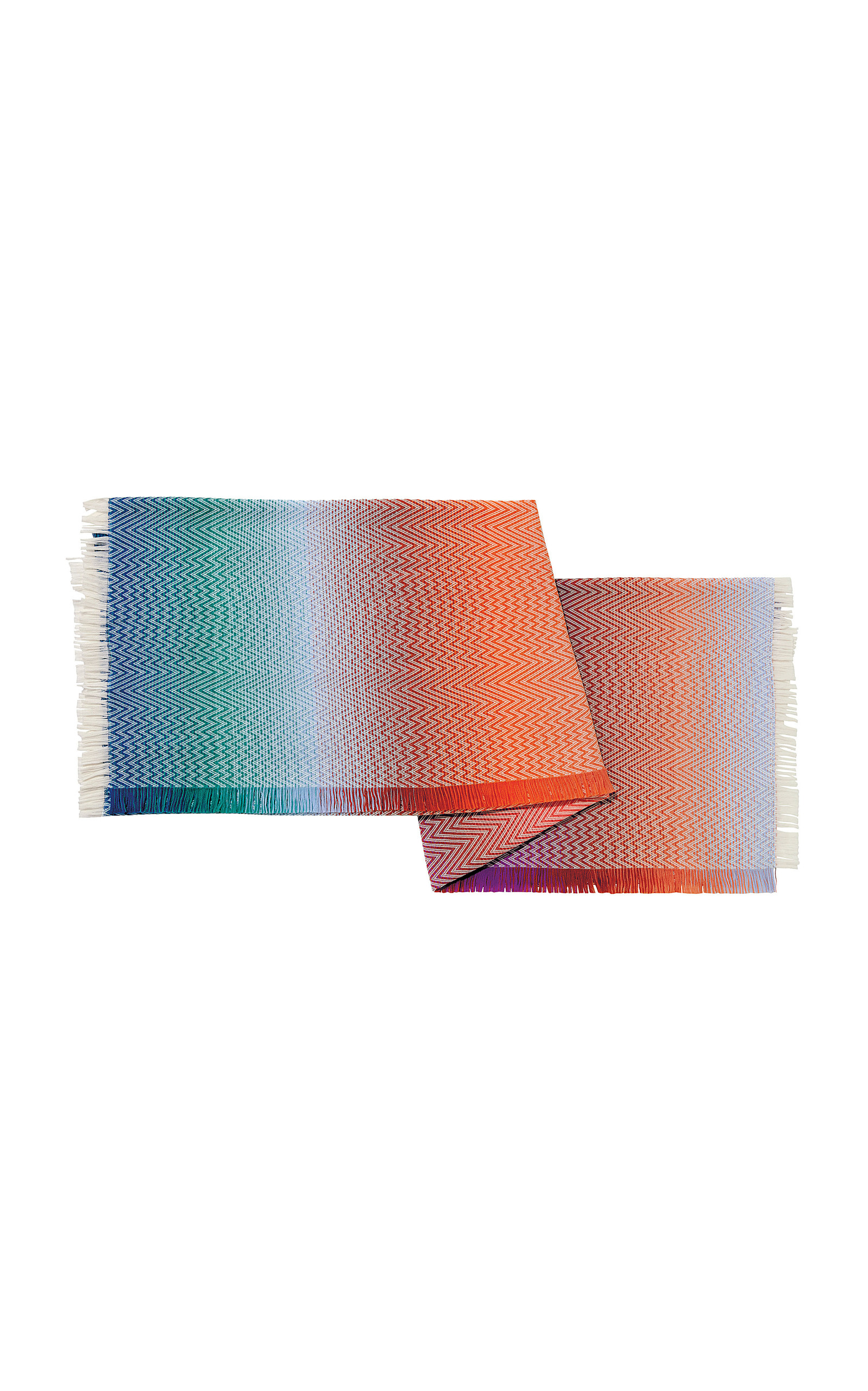 chevronknit cotton blanket by missoni  moda operandi - full screen