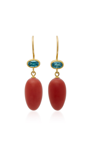 Medium mallary marks red apple eve zircon earrings