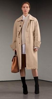 Medium burberry neutral trench coat
