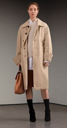 Medium burberry neutral trench coat