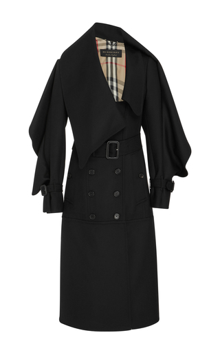Medium burberry black black belted wool coat