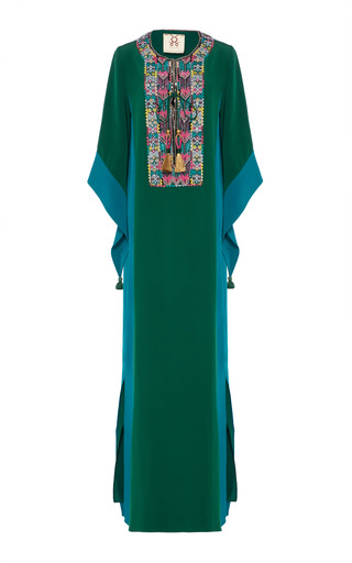 Medium figue green embroidered noona gown