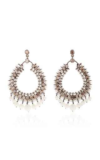 Medium sanjay kasliwal silver indorussian peridot teardrop earrings