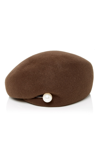 Medium inverni brown velour basque hat