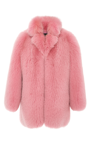 Medium blood honey pink cotton candy fox coat