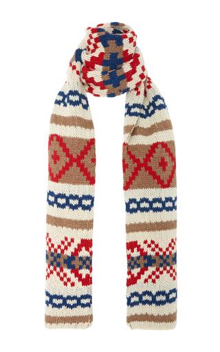 Medium daughter multi lefinn fairisle blanket scarf