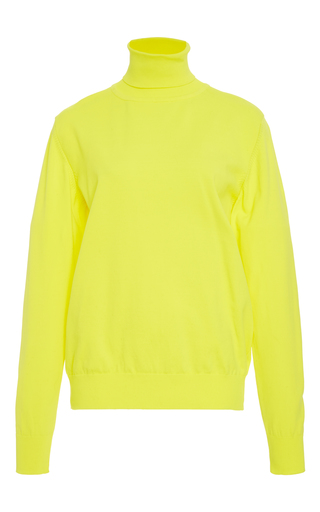 Medium plys yellow neon turtle neck