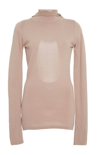 Medium dion lee pink pinacle balaclava knit top