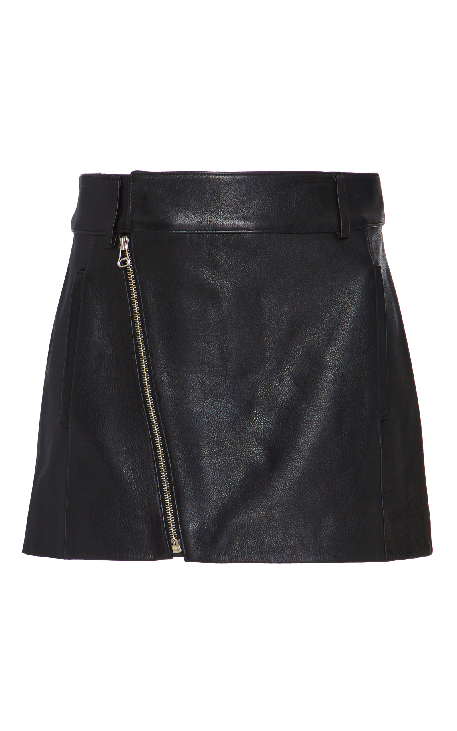 12a5acb8d9 Dion Lee Leather Biker Mini Skirt