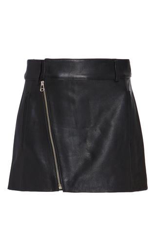 Medium dion lee black leather biker mini skirt