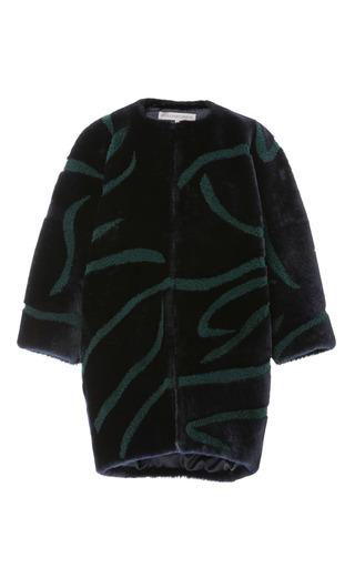 Medium pologeorgis navy cleo shearling coat