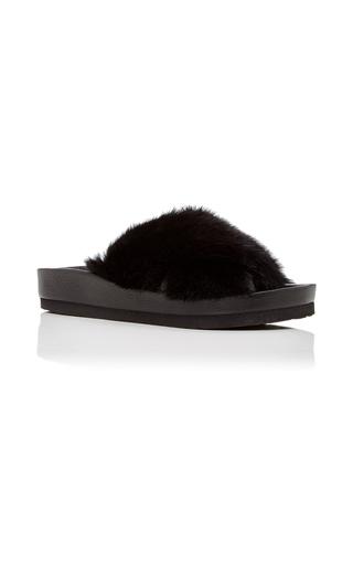 Medium lysa lash furs black twist fur sandal