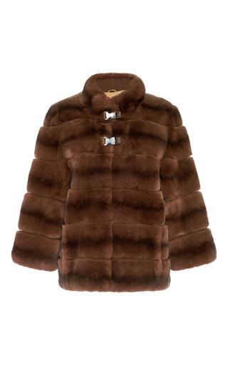 Medium lysa lash furs brown cruz metal clip fur jacket