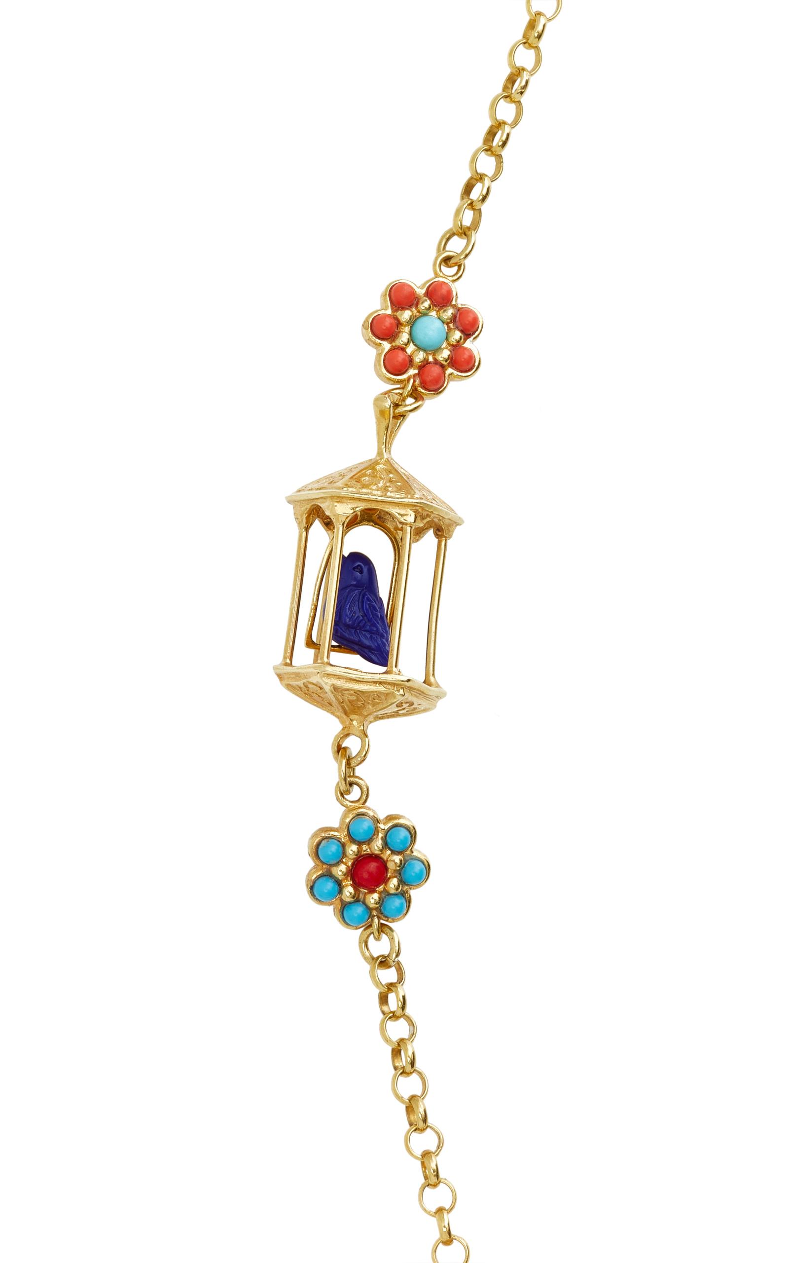pagoda 18k gold vermeil multi necklace by of moda