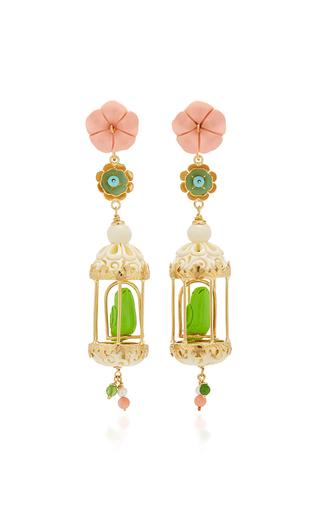 Aviary 18k Gold Vermeil Multi Stone Earrings By Of Moda