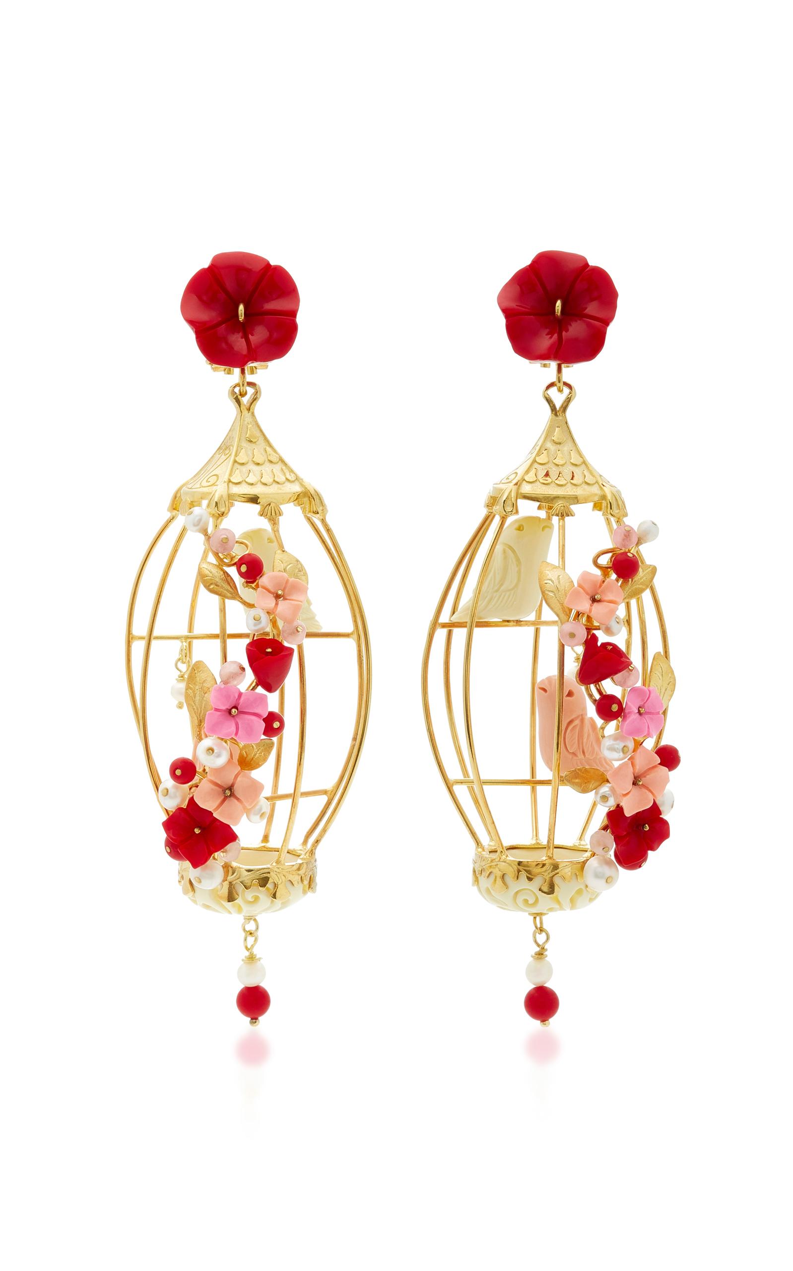 Of Rare Origin Lovebirds Gold Vermeil Multi-stone Earrings fNo0qb5g2