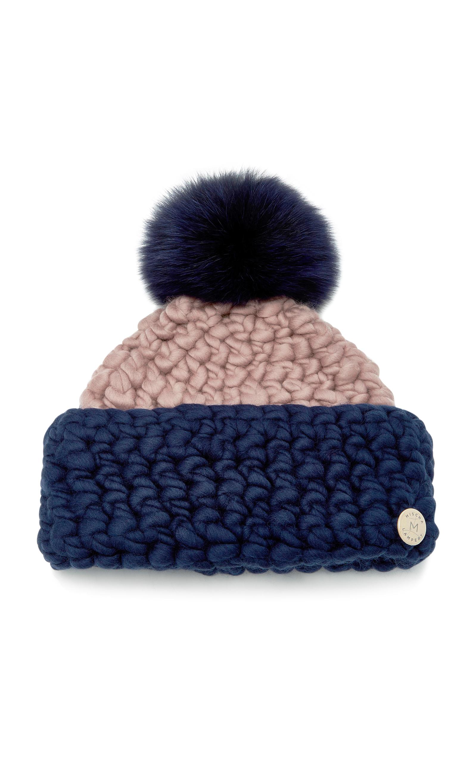 da25fa7119a Fold Fox Fur-Trimmed Merino Wool Beanie by Mischa Lampert