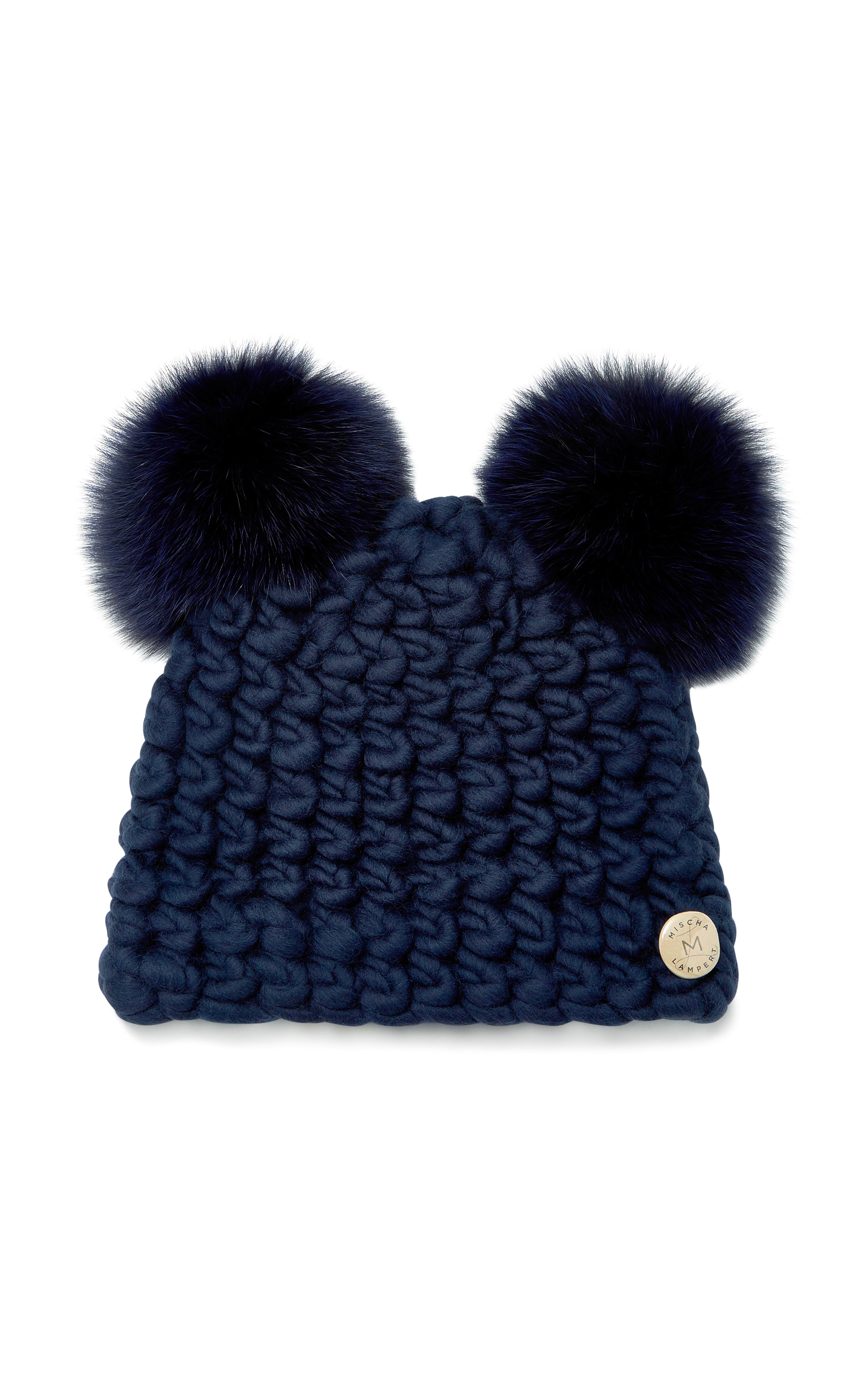 a8262ae94a4 Mickey Mouse Fox-Fur Trimmed Wool Beanie by Mischa Lampert