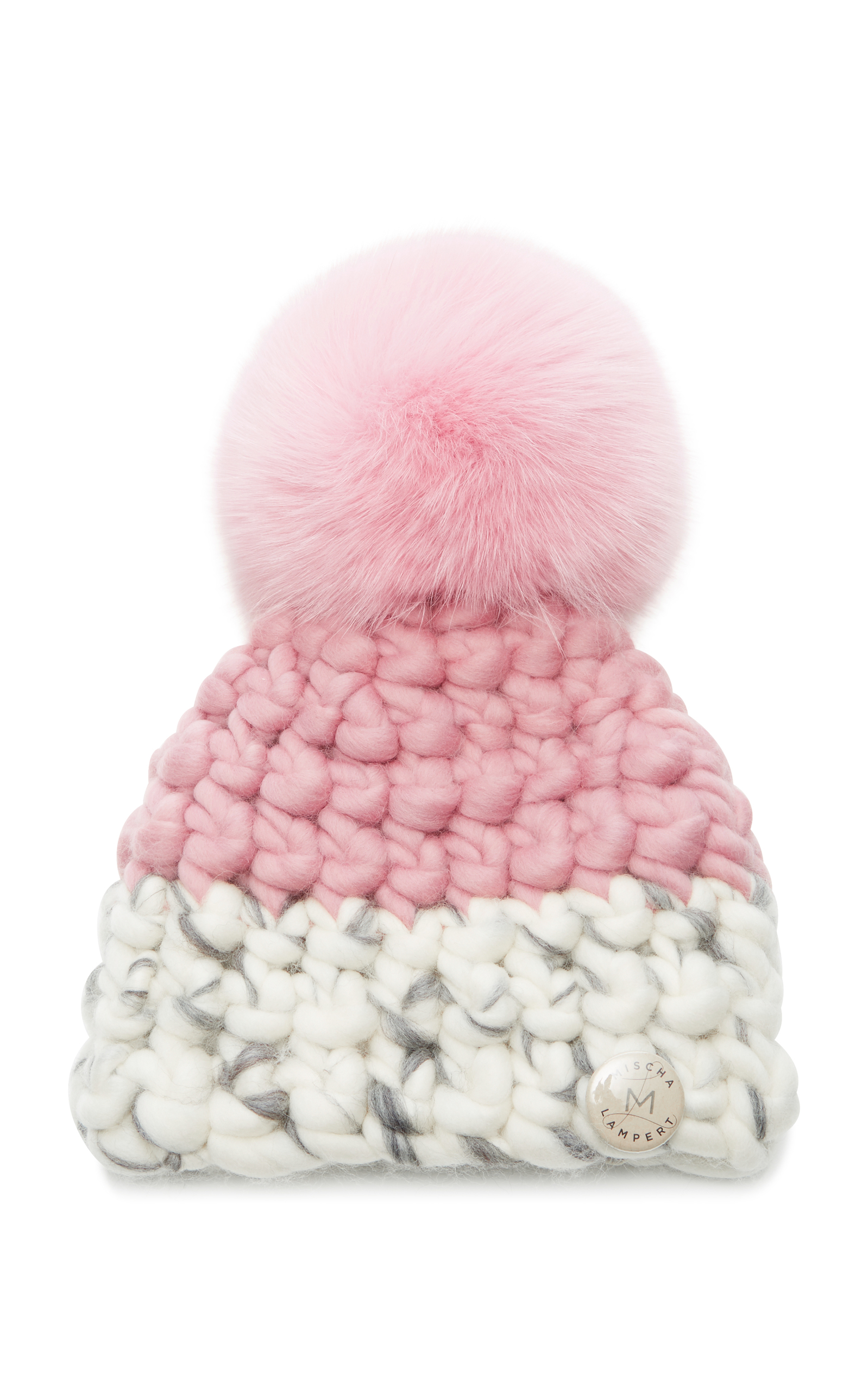 MISCHA LAMPERT CHILDREN'S DEEP COLOR-BLOCK BEANIE