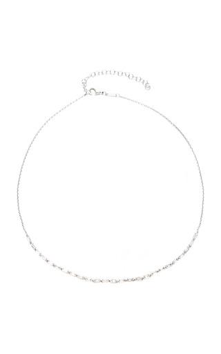 Medium as29 silver baguette linear 25 necklace