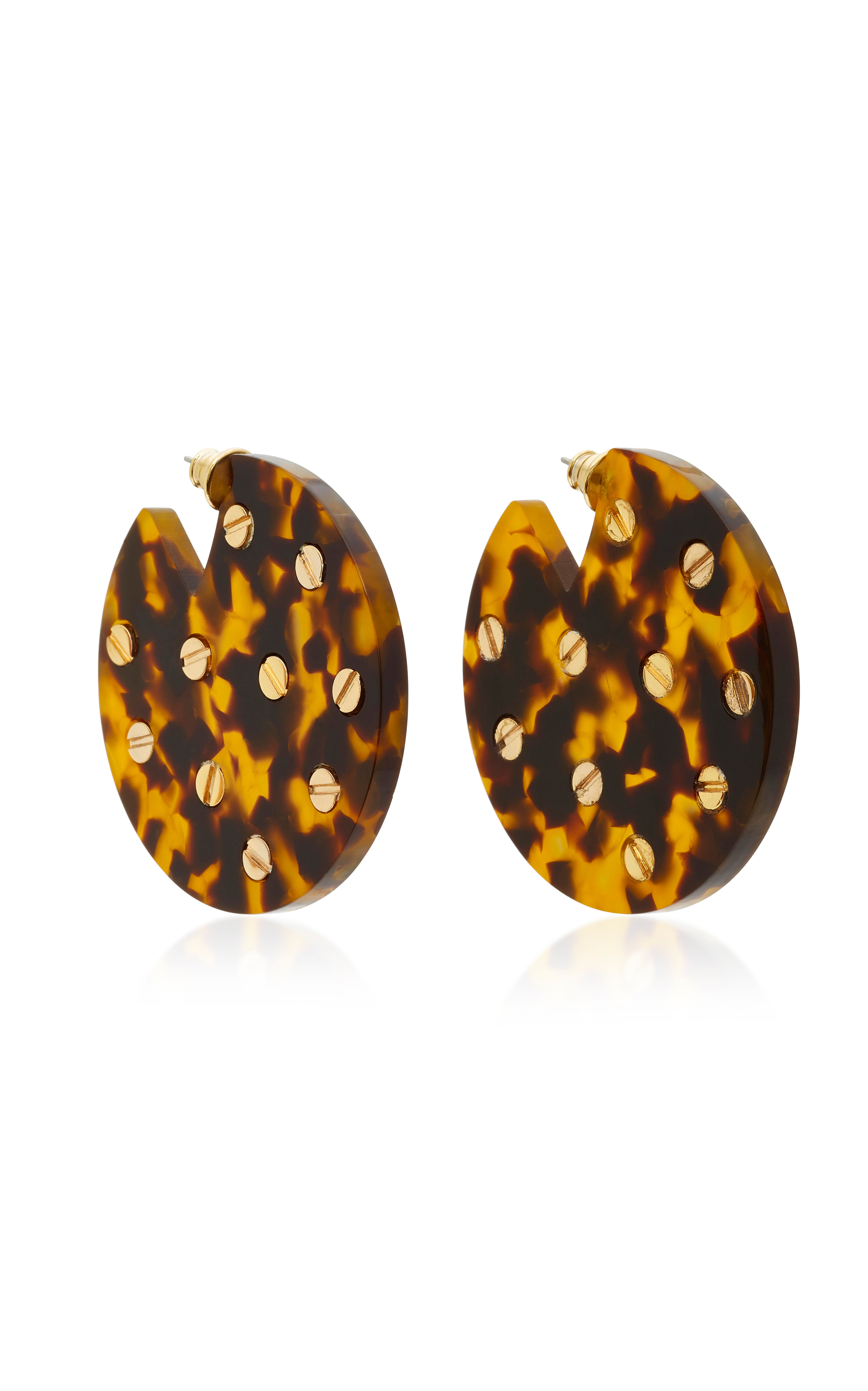celluloid lamevallar earrings tortoise drop l