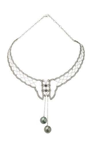 Medium colette jewelry llc silver corset necklace