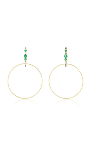 Medium jemma wynne green bar hoop earrings