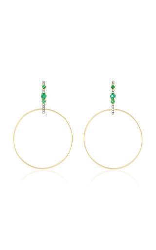 Medium jemma wynne green bar hoop earrings