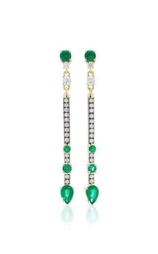 Medium jemma wynne green emerald stick drop