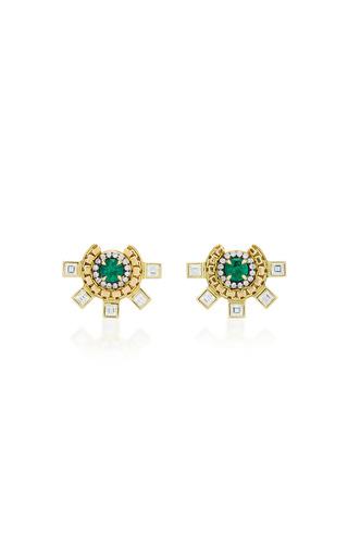 Medium jemma wynne green zambian emerald studs