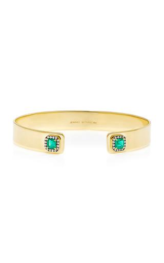 Medium jemma wynne green limited edition flat wire cuff