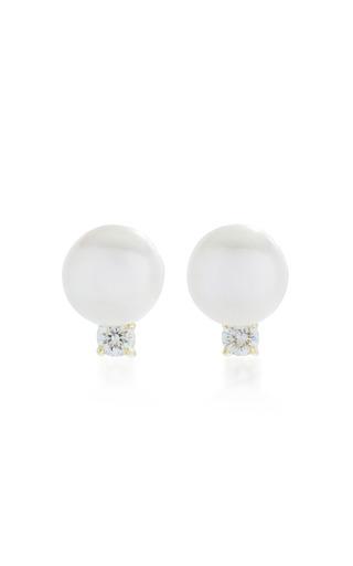 Medium jemma wynne white pearl studs