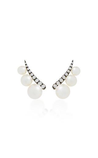 Medium jemma wynne white pearl ear climbers