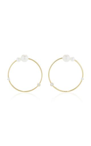 Medium jemma wynne white white pearls hoops