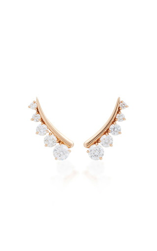 Medium jemma wynne gold round diamonds ear climbers
