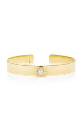 Medium jemma wynne gold hexagon diamond cuff