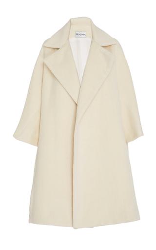Medium wadha white oversized llama wool coat