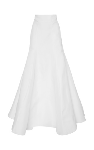 Medium wadha white voluminous gazar maxi skirt
