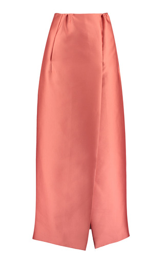 Medium merchant archive pink floor length column skirt