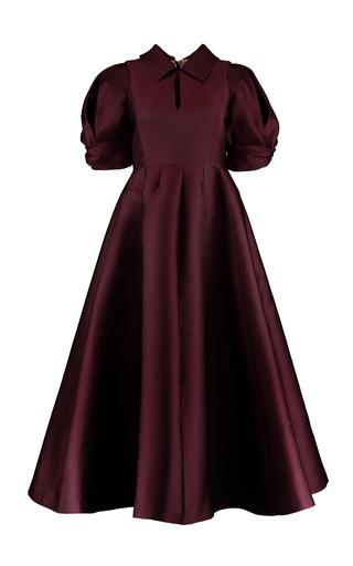 Medium merchant archive burgundy drape sleeve dress