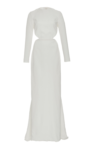 Medium semsem white camille backless long dress