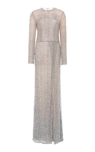 Medium semsem gold long sleeve beaded gown